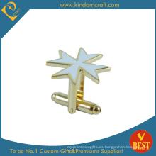 Cufflink personalizado de metal de forma de estrella para la venta