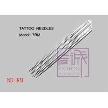 Agulhas de tatuagem esterilizadas pré-fabricadas de 50 pacotes Agulhas de tatuagem de barra / curva
