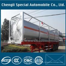 Remolque caliente del envase del tanque de los ejes ISO del proveedor 40 3 ejes