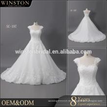 Hochwertiges neueste Ballkleid-Hochzeitskleid mit Schatzausschnittweinlese trägerlose / abnehmbare eine Schulterhochzeitskleider