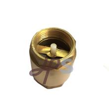 válvula de retención de latón con núcleo de plástico