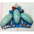 New Handmade Bead Bows Flower with Rhinestone for Women Shoe Decoration