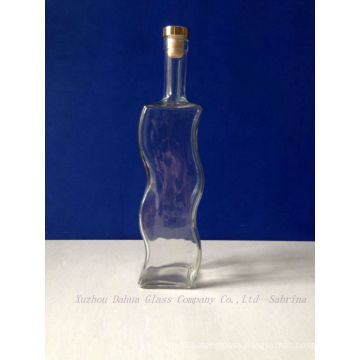 780ml Unique Shaped Glass Wine Bottles with Stopper