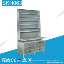 SKH063 Étagère d'armoire à pharmacie en acier inoxydable pour hôpitaux