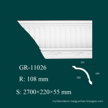 Home Design Fireproof PU Decorative Crown Molding