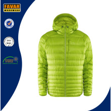 Unisex Lightweight Nylon Shell Duck Down Jacket with Warmer Hood