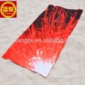 Digital printed micro fiber suede towels for beach