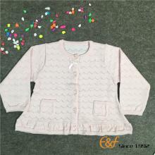 Pointelle बुन Hemline स्वेटर लड़कियों के लिए