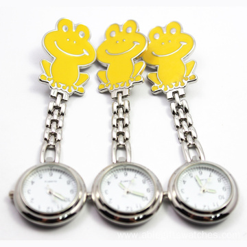 Smile Face Metal Watch Useful Nurse Watch yellow