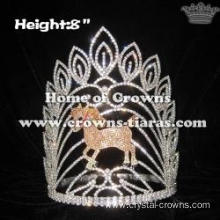 8in Height Crystal Horse Animal Pageant Crowns