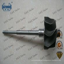 Rueda de turbina de eje de turbina con rodamiento de bolas GT2860R