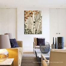 Peinture à l'huile de décoration forestière pour décoration intérieure