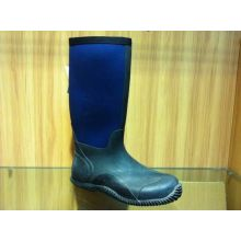 Professional Wear-resistant Half Rain Boots With Blue And Black