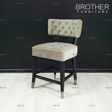 Bar furniture wooden bar stool chair velvet fabric bar stool chair