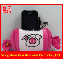 Wholesale HOT sale candy shape plush mobile phone holder