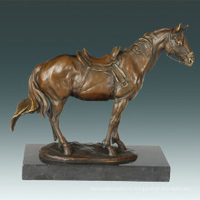 Sculpture en bronze animal Décoration à cheval Statue en laiton Tpal-258