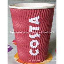 Aparta del diseño popular de tazas de papel rojas