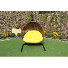 Cadeira de balanço de poliéster sintético elegante ou Hammock para jardim exterior Mobília de vime de pátio