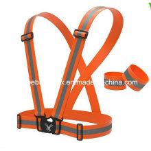 Cinturón de seguridad fluorescente naranja
