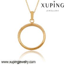 32555-fashion jewelry wholesale 18k gold circle pendants
