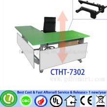 Healthy uplift desk frame 3 legs manual height adjustable office desk with hand crank