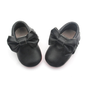 Hot Selling Bow-tie Infant Moccasin skor