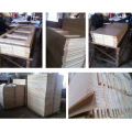 Porta principal de madeira folheada teca interior do projeto americano da segurança (SC-W111)