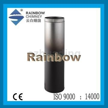 CE and galvanized sheet single wall straight chimney pipe for stove