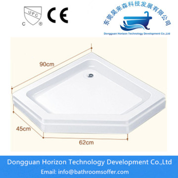 Deep shower tray shower cabin base