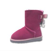 Crianças crianças neve moda botas com arcos duplos