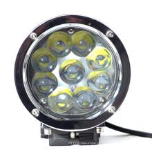 Luz impermeável brilhante super do trabalho do diodo emissor de luz do feixe do ponto da inundação da lente 6000K do PC de 10-30V 45W
