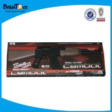 Agitação arma, B / O brinquedo arma com som, elétrico brinquedo arma com música