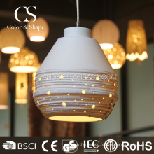 Indoor decorative white ceiling light droplight