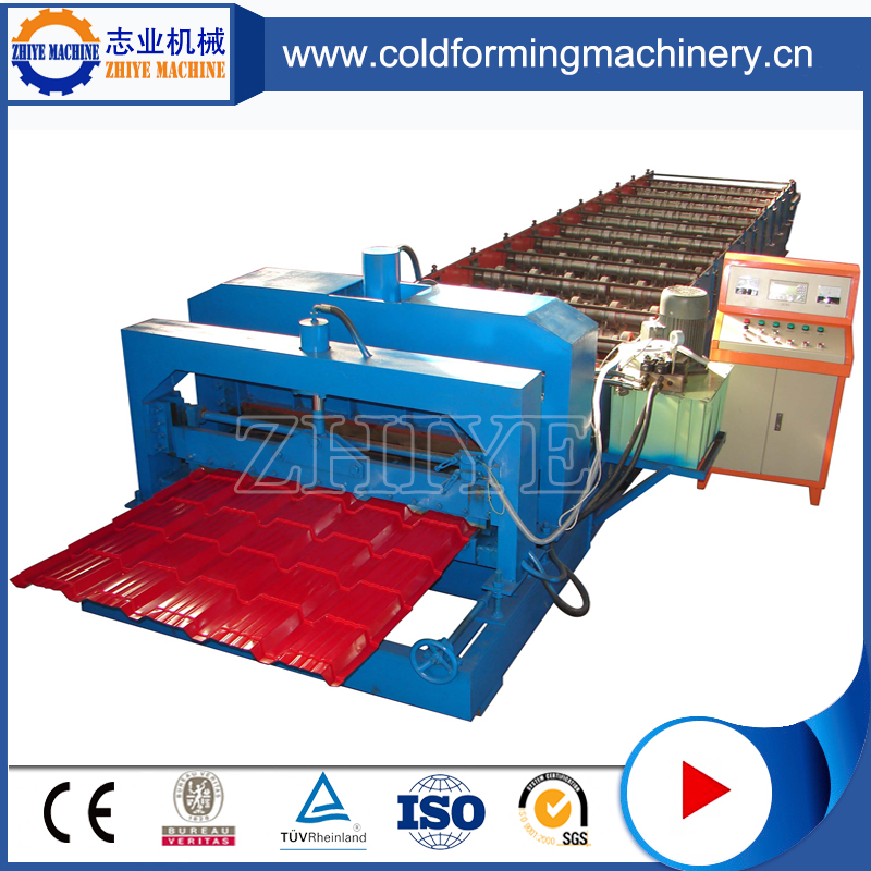 metal cold roll forming machine for roofglazed tile roll forming machine