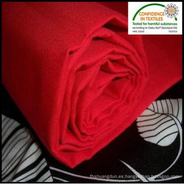 Trabajo rojo use la tela cruzada del algodón del poliester