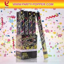 (6 Paquetes) Grandes (12 pulgadas) Cañones de confeti Aire comprimido Partido Poppers Interior y exterior