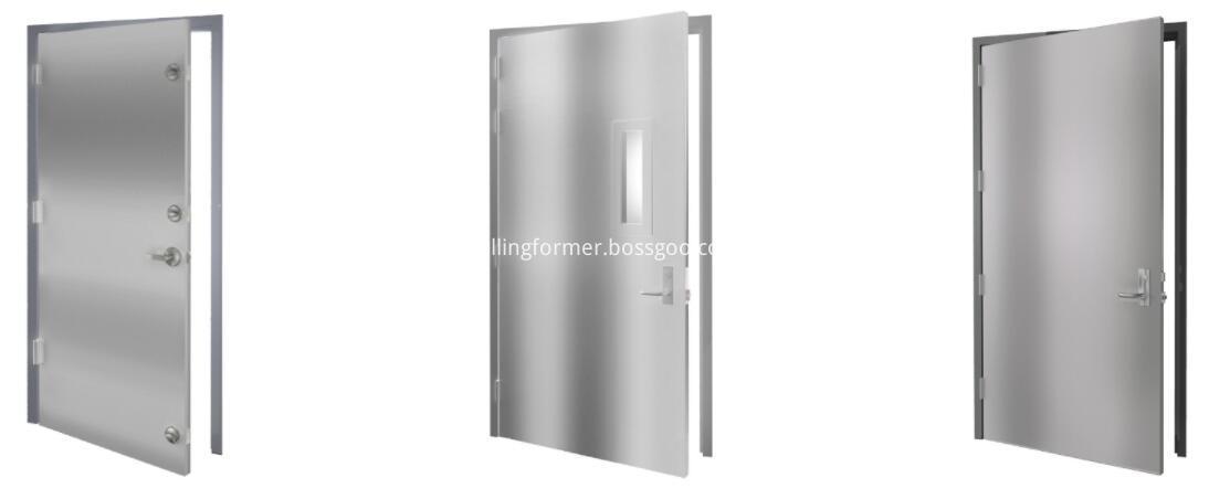 Hollow metal door rollformer