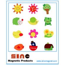 Pintado de dibujos animados de madera lindo Fridgemagnet / juguetes educativos