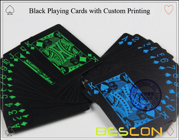 Black Playing Cards with Custom Printing-4