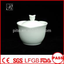 P&T porcelain factory sugar bowl with cover, ceramics sugar pot
