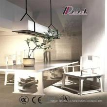 Nuevo estilo elegante restaurante tela sombra lámpara colgante
