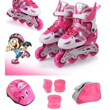 Juego de patines azul rosa para niños