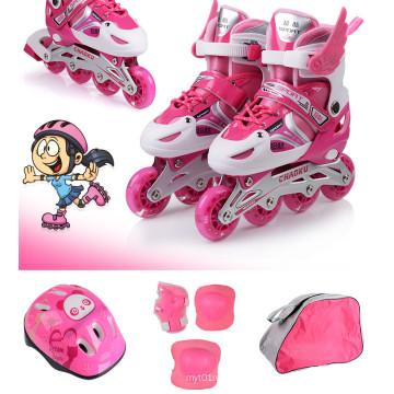 Kids Sports Blue Pink Skate Set