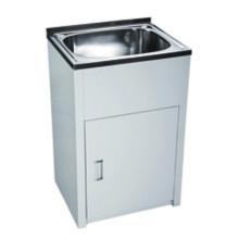 Bathroom White Single Sink Laundry Tub (600)