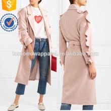 Con volantes de mezcla de lana de la fabricación de la ropa al por mayor de la moda de las mujeres de prendas de vestir (TA3016C)