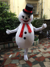 Adorable Snowman Mascot Costume High Quality Hand-made Party and Commercial Activities Supply Adult Size