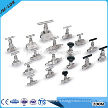 High pressure double female thread needle valve