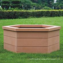 Alto plástico de madera de Quanlity compuesto / WPC Flower Box970 * 846 * 463