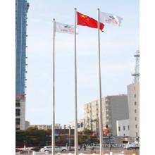 China Design White Powder Coated Flag Pole