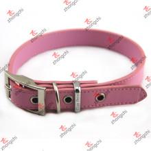 Collar de perro de cuero de la PU de la manera rosada para la joyería del animal doméstico (PC15121401)